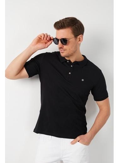 Buratti Buratti Polo Yaka Erkek T-Shirt 0438101 Siyah